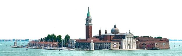 Panorama of Marina San Giorgio Maggiore, Venice, Italy